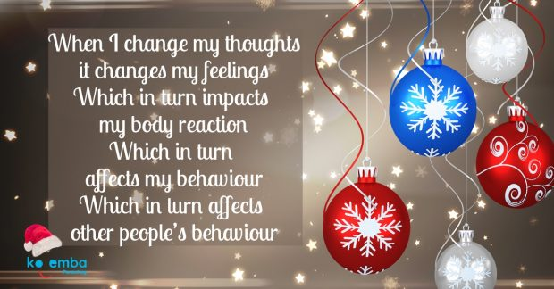 Change thoughts to change feelings and behaviour