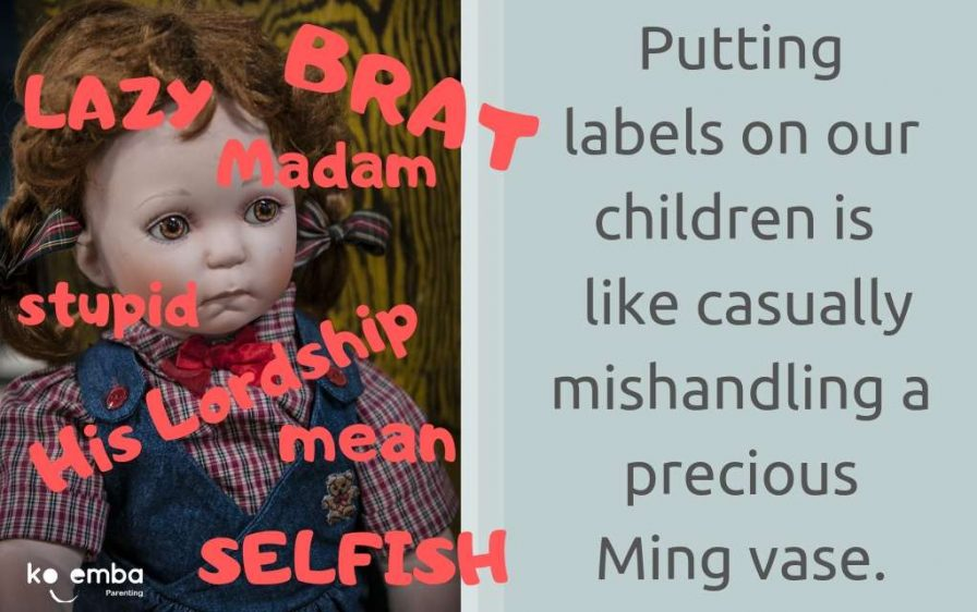 Putting labels on our children is like mishandling a precious Ming vase - blog post by Val Mullally